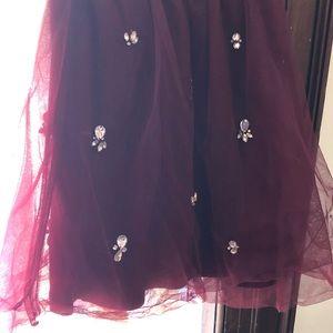 Jcrew NWT kids tulle & rhinestone skirt size 6-7